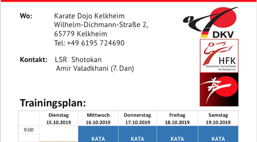 DKV Nationalmannschaft in Kelkheim – Trainingsplan