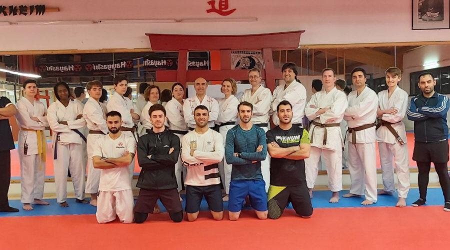 Die iranische Karate-Nationalmannaschaft in Kelkheim-Deutschald